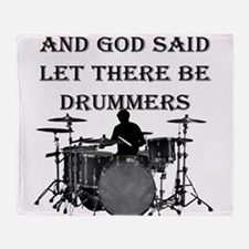 God Made Drummers Throw Blanket