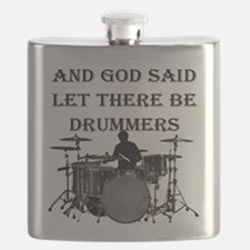 God Made Drummers Flask