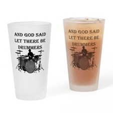 God Made Drummers Drinking Glass