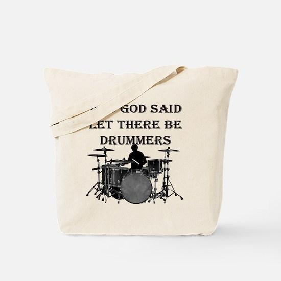Drummers God Made Tote Bag