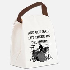 Drummers God Made Canvas Lunch Bag