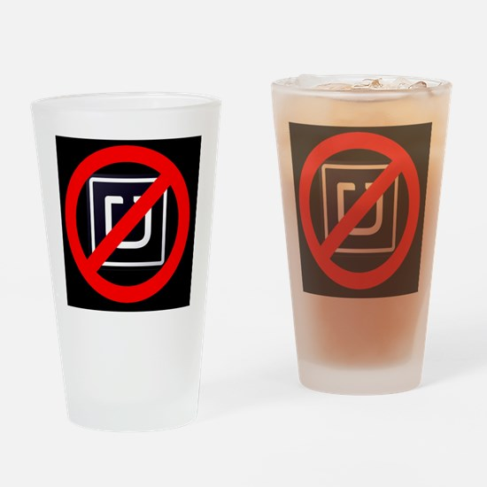 No Uber Drinking Glass