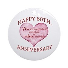 60th. Anniversary Ornament (Round)