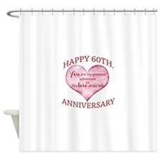 60th. Anniversary Shower Curtain