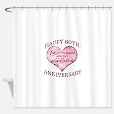 60th. Anniversary Shower Curtain