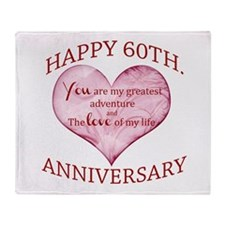 60th. Anniversary Throw Blanket