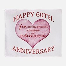 60th. Anniversary Throw Blanket