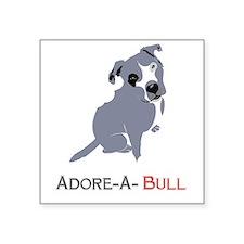 Grey Pittie Puppy Adore-A-Bull Sticker