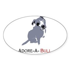 Grey Pittie Puppy Adore-A-Bull Decal