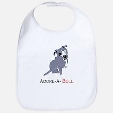 Grey Pittie Puppy Adore-A-Bull Bib