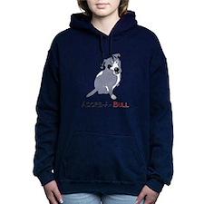 Grey Pittie Puppy Adore- Women's Hooded Sweatshirt