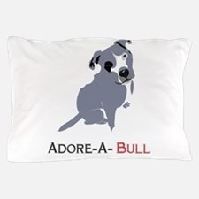 Grey Pittie Puppy Adore-A-Bull Pillow Case