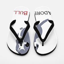 Grey Pittie Puppy Adore-A-Bull Flip Flops
