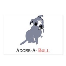 Grey Pittie Puppy Adore-A Postcards (Package of 8)