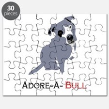 Grey Pittie Puppy Adore-A-Bull Puzzle