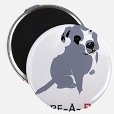 Grey Pittie Puppy Adore-A-Bull Magnets