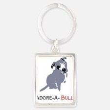 Grey Pittie Puppy Adore-A-Bull Keychains