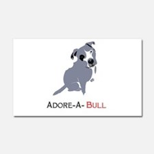 Grey Pittie Puppy Adore-A-Bull Car Magnet 20 x 12