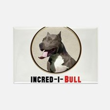 Grey White Pitbull Incred-i-Bull Magnets