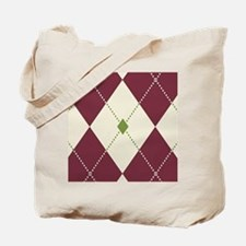 Cheery Christmas Argyle Tote Bag