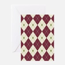 Cheery Christmas Argyle Greeting Cards