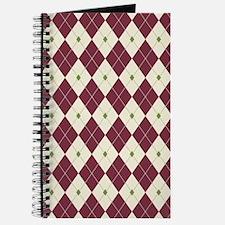 Cheery Christmas Argyle Journal