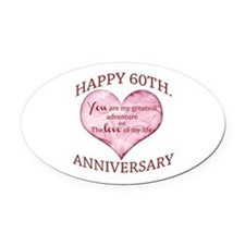 60th. Anniversary Oval Car Magnet