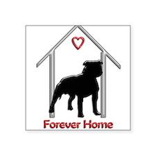 Forever Home Logo Pitbull Black Sticker