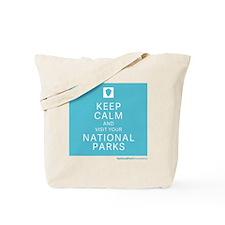 NPF keep calm blue Tote Bag