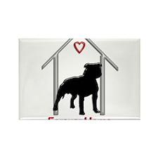 Forever Home Logo Pitbull Black Magnets