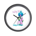 Flower with Pink Ribbon  Wall Clock