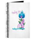 Flower with Pink Ribbon Journal