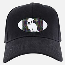Cute white pit Bull circle pattern Baseball Hat