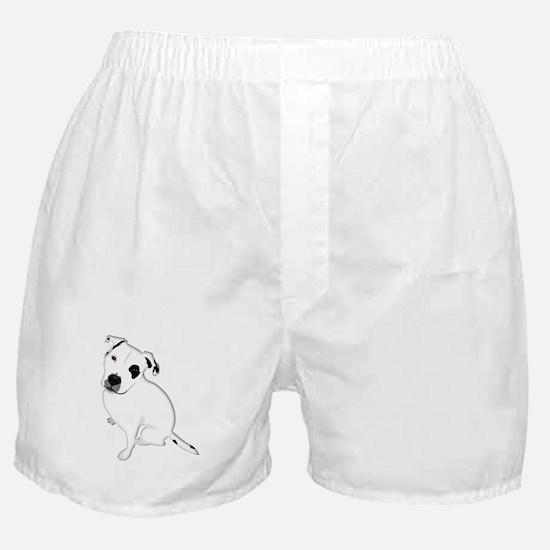 Cute Pitbull PuppyWhite Shaded Boxer Shorts