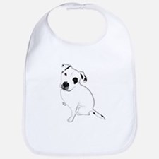 Cute Pitbull PuppyWhite Shaded Bib