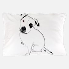 Cute Pitbull PuppyWhite Shaded Pillow Case