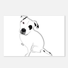 Cute Pitbull PuppyWhite S Postcards (Package of 8)