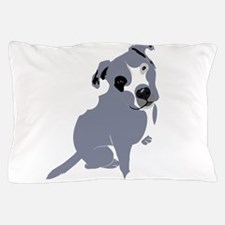 Cute Pitbull Puppy Grey Pillow Case