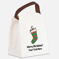 Christmas stocking Canvas Lunch Bag