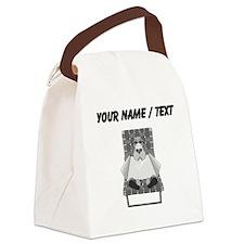 Dog Sunning (Custom) Canvas Lunch Bag