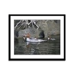 Baby Ducklings Framed Panel Print