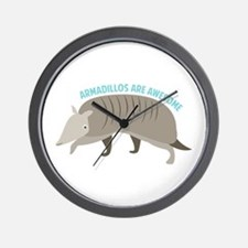 Armadillo_Armadillos_Are_Awesome Wall Clock