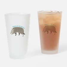 Armadillo_Armadillos_Are_Awesome Drinking Glass