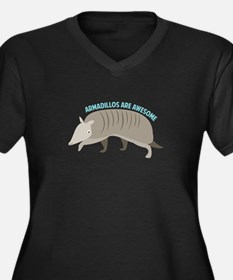 Armadillo_Armadillos_Are_Awesome Plus Size T-Shirt