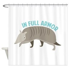 Armadillo_In_Full_Armor Shower Curtain