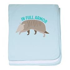 Armadillo_In_Full_Armor baby blanket