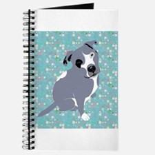 Cute grey pit Bull square pattern Journal