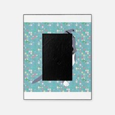 Cute grey pit Bull square pattern Picture Frame