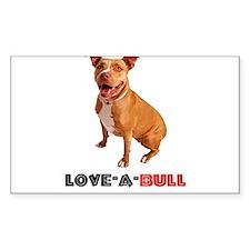 Cute Brown Pittie Love-a-Bull Decal