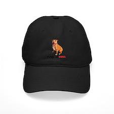 Cute Brown Pittie Love-a-Bull Baseball Hat